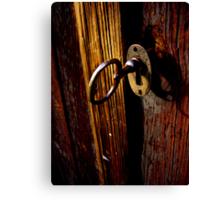 Key In Lock Canvas Print