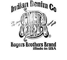 Indian Denim Co by Rogers Bros Photographic Print