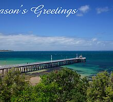 Queenscliff Pier,  Season's Greetings by Steven Weeks