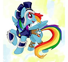 The Greek Warrior Rainbowdash Photographic Print