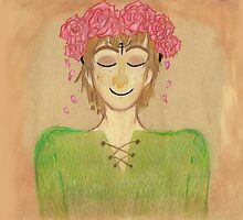 Flower crown hiccup by Sassy Nightfury