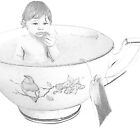 Teacup Drawing by jessica voss
