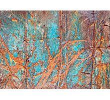 Rusty metal Photographic Print