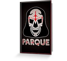Parque Mask Design Greeting Card