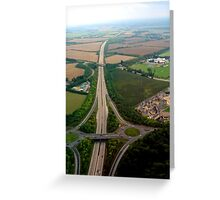 "UK: ""The Arterial"", Gloucestershire Greeting Card"