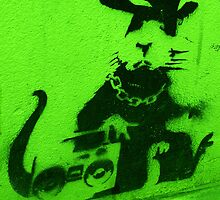 Bansky Gangsta Rat - Green by Kiwikiwi