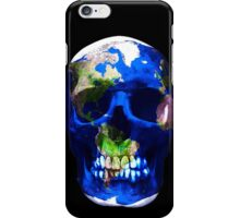 """LuxeMyth"" Human-Caused Climate Change Earth Skull  iPhone Case/Skin"