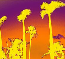 Purple Palm trees by Lisa DeLong