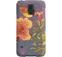 Seamless floral background with petunia Samsung Galaxy Case/Skin