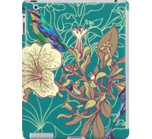 Seamless floral background with petunia iPad Case/Skin