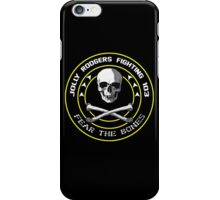 Fighting 103 Jolly Rogers Badge iPhone Case/Skin