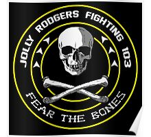Fighting 103 Jolly Rogers Badge Poster