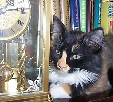 Lucy Watching Clock by Rebekah  McLeod