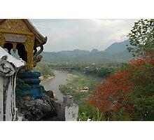 Nam Khan River, Luang Prabang, Laos Photographic Print