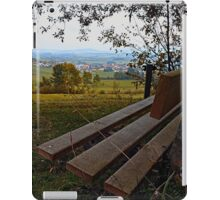 Bench with nature and scenery | landscape photography iPad Case/Skin