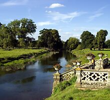 Charlecote Park - river view. by GCAPARO