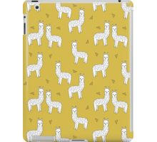 Alpaca - Mustard by Andrea Lauren iPad Case/Skin