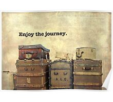 Vintage Brown Steamer Trunks and Luggage Poster
