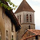 Church on the Hill - Nanteuil-en-Vallée by Pamela Jayne Smith