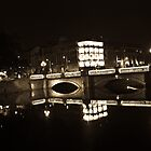 Dublin's O'Connell St Bridge at night by Presence