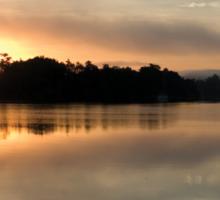 Golden Liquid Dawn ~ Johnstone River, Innisfail Sticker