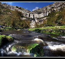 Malham Cove river by Shaun Whiteman