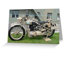 WW2 British Army Motorcycle Greeting Card