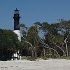 Hunting Island Lighthouse from Beach by Anna Lisa Yoder
