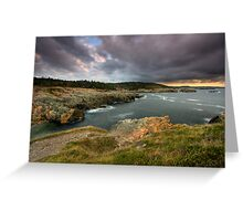 Clouds over Louisbourg Lighthouse Greeting Card