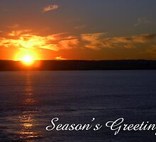 Sunset, Season's Greetings by Steven Weeks