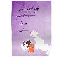 The Aristocats inspired Mother's Day design. Poster