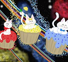 Space Cupcake Kittens by E-Ocasio