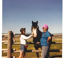 My daughter, Me and the horse. by Robin M. Monk