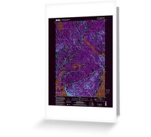 Maine USGS Historical Map Lincolnville 808031 2000 24000 Inversion Greeting Card