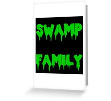 Swamp Family Greeting Card
