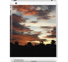 Tropical Twilight - Orange Belly Blanketed Cloudscape  iPad Case/Skin