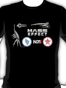 Mass Effect cross stitch sampler T-Shirt