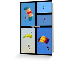 Skydiving Collage Greeting Card