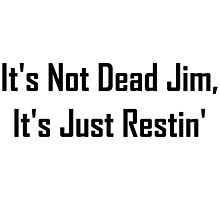 It's Not Dead Jim, It's Just Restin' by geeknirvana
