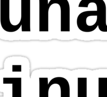 uname Linux - The only true answer - light shirt Sticker