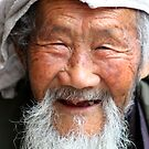 A portrait of an old man by Alexander Isaias
