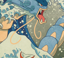 THE GREAT WAVE OFF KANAGAWA POKEMON Sticker