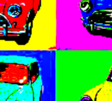 Retro Car Pop Art Sticker