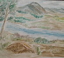River 1 Oil Pastel by rgsart