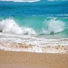 Wave breaking on the beach by Ian Berry