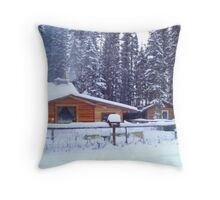 Our Cabin In The Woods...Winter Throw Pillow