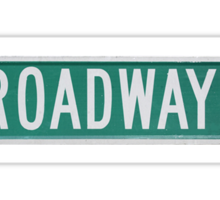 Broadway Road Sign Actual Photo  Sticker