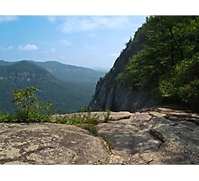 Cliff View from Hickory Nut Gorge, NC Photographic Print