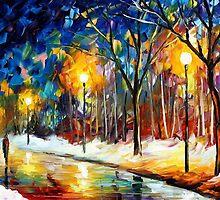 Icy Path 2 — Buy Now Link - www.etsy.com/listing/222939394 by Leonid  Afremov