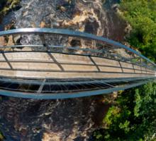 Footbridge over Glen River, Carrick, SW Donegal Sticker